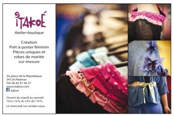 Itakoé Création vêtements - robes de mariée à Pézenas - Made in France
