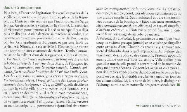 Itakoé dans la revue Ateliers d'Art de France n°131 Oct/Nov 2017